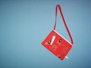 Handpainted red bag