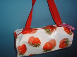 Big white bag with strawberries