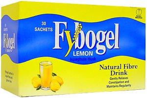 60 Sachets Fybogel lemon Natural Fibre Drink - Constipation relief - isphaghula