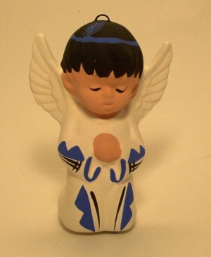 Angel Ornament Southwestern Boy Blue