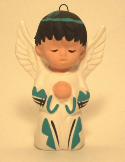 Angel Ornament Southwestern  Boy Turquoise
