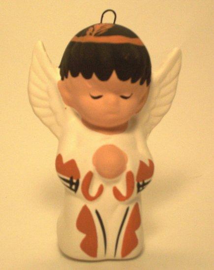 Angel Ornament Southwestern Boy Terra Cotta