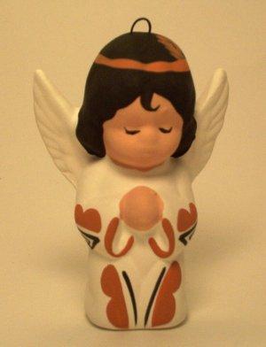 Angel Ornament Southwestern Girl Terra Cotta
