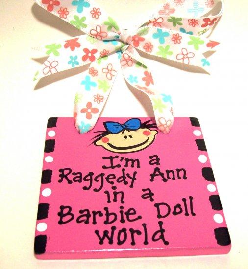 Barbie Doll World Handpainted Tile