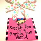 Barbie Doll World Handpainted Tile