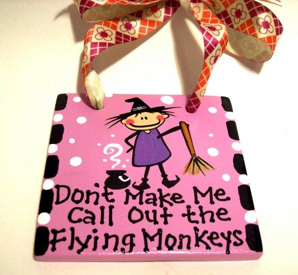 Flying Monkeys Handpainted Tile