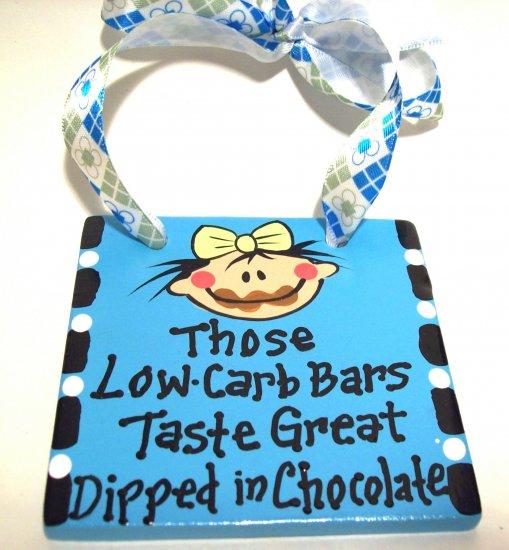 Love Chocolate Handpainted Tile
