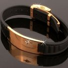 ELECTRIFIED FEEL BETTER EJNP-D008 Silicone & Steel (Gold Plated) Bracelet