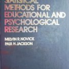 Statistical Methods For Educational by Novick, Melvin