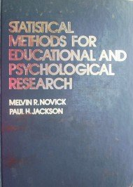 Statistical Methods For Educational by Novick, Melvin