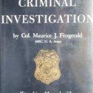 Handbook Criminal Investigation Maurice Fitzgerald (HB