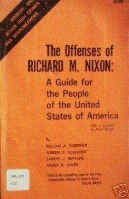 The Offenses of Richard M. Nixon William Dobrovir (SC *