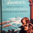 The Silver Answer Constance B Burnett (HB 1955 G)*