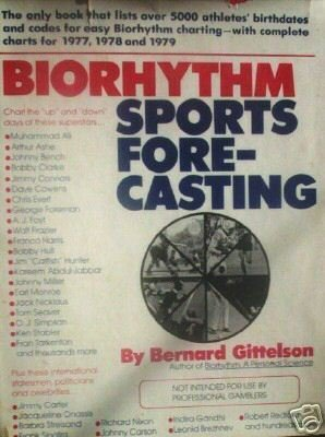Biorhythm Sports Forecasting by Bernard Gittelson (HB *