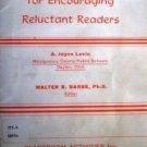 Classroom Activities Encouraging Reluctant Readers (SC*