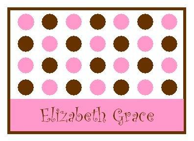 Pink Lotsa Dots Personalized Note Cards