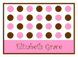Pink Lotsa Dots Personalized Note Cards
