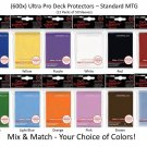 (x600) ULTRA PRO Card Sleeves *DECK PROTECTORS* 12 Packs Mix/Match Black Red MTG