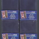 100 ULTRA PRO 3x4 Sports Card Toploaders + FREE SLEEVES