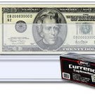 100 Toploaders Currency 6.5x3 BCW Regular Bill Protector Storage Sleeve Holder