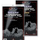 (200) BCW SILVER AGE Clear Comic Book Bags / Sleeves Organizers NEW SEALED!