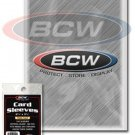 100 Sleeves Holders Protectors for Thick Trading, Baseball, Gaming Cards, BCW