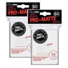 (x120) ULTRA PRO Card Sleeves *PRO-MATTE WHITE SMALL* DECK PROTECTORS YuGi