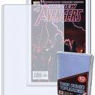 10 BCW 7.5x11x5mm - Comic Book Hard Plastic Topload Holders rigid sleeves sheets