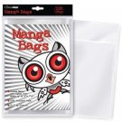 """(100) Ultra Pro MANGA Size Comic Book Bags 6"""" x 7 5/8"""" 100% Archival Safe Poly"""