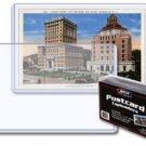 (500) 1 CASE BCW 5.875 x 3.75 SIZE POSTCARD HARD RIGID TOPLOADERS