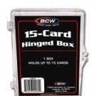 60 BCW 15 Count Hinged Plastic Baseball Trading Card Boxes protector hinge box