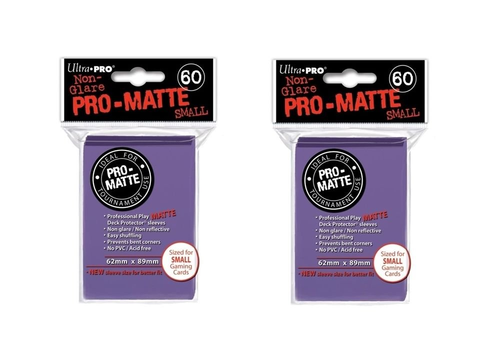 (120x) Ultra Pro PURPLE Pro-Matte SMALL YUGI Deck Protector Sleeves