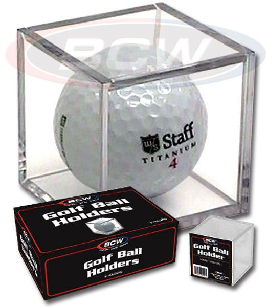 (1) BCW Golf Ball Display Cube Square Stackable Holder Auto Autograph