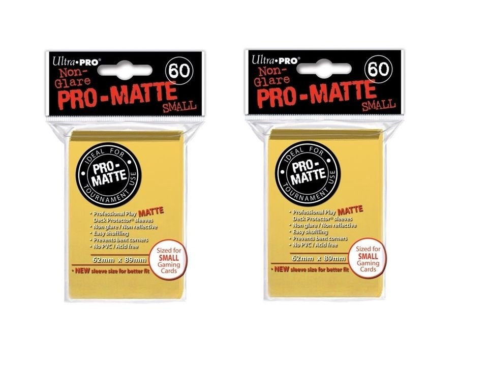 (120x) Ultra Pro YELLOW Pro-Matte SMALL YUGI Deck Protector Sleeves