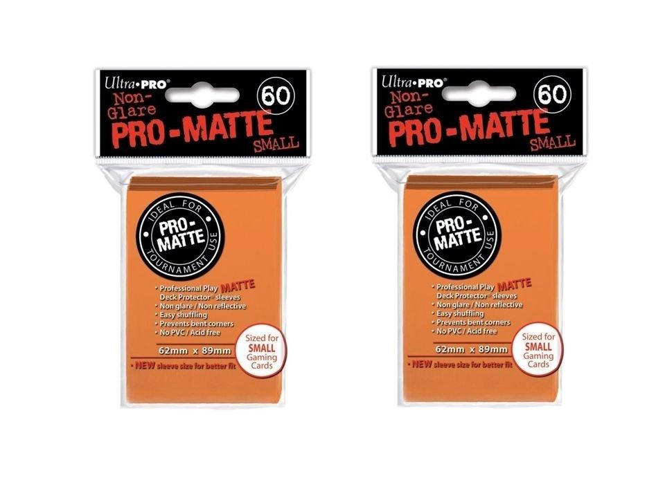 (360x) Ultra Pro ORANGE Pro-Matte SMALL YUGI Deck Protector Sleeves