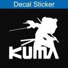 Afro Samurai Kuma Decal Sticker