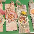 1 per pkg Floral handmade little girl bookmark