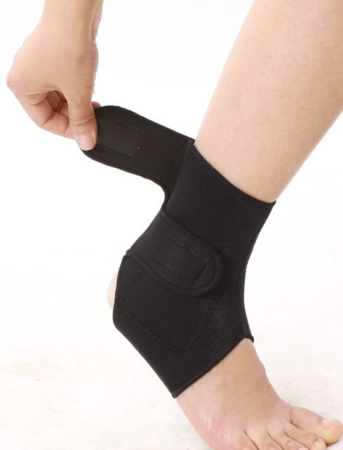 NEW TOURMALINE SELF HEATING ANKLE WRAP STRAP BRACE MAGNETIC SUPPORT THEROPY x 1