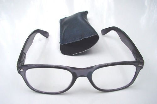 WAYFARER STYLE  READING GLASSES BLUE WITH POUCH +2.0