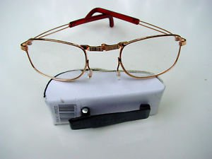FOLDING READING GLASSES WITH WHITE CLIP CASE +2.75 F2