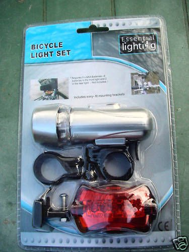 BICYCLE LED LIGHT SET CYCLE BIKE LIGHTS FRONT & REAR