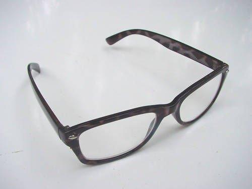 WAYFARER LOOK READING GLASSES BLACK TORTOISESHELL+3.0 R4007