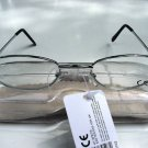 READING GLASSES SILVER FRAMES + CASE +3.0 TY102