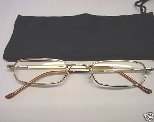 SPRUNG ARM READING GLASSES +3 +3.0 GILT THIN D502