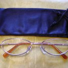 NEW SPRUNG ARM READING GLASSES +1.0 GILT OVAL D502