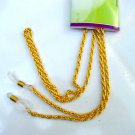 GLASSES ROPE STYLE NECK CHAIN GOLD COLOUR METAL LANYARD CORD