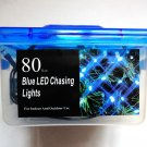 NEW 80 BLUE LED 8 FUNCTION CHRISTMAS LIGHTS & TRANSFORMER INDOOR OR OUTDOOR
