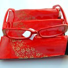 3 PAIRS OF STYLISH READING GLASSES DESIGNER RED GOLD +2.0 D503
