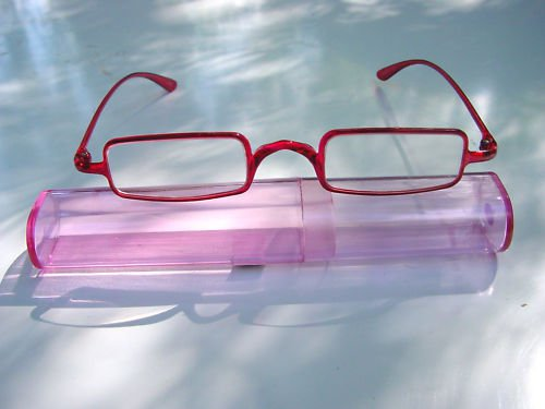 SUPERLIGHT SLIM PINK READING GLASSES + CASE +3.0 D527