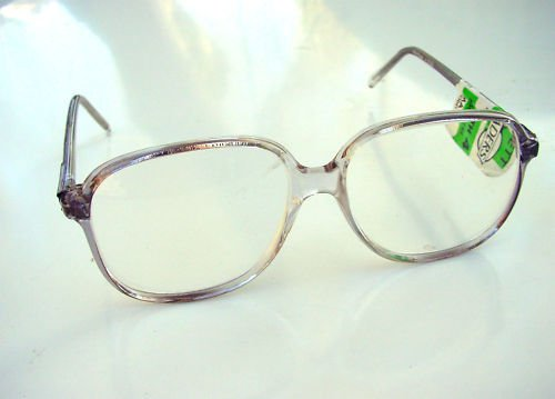 LARGE SMOKEY GREY SQUARE READING GLASSES +3.0